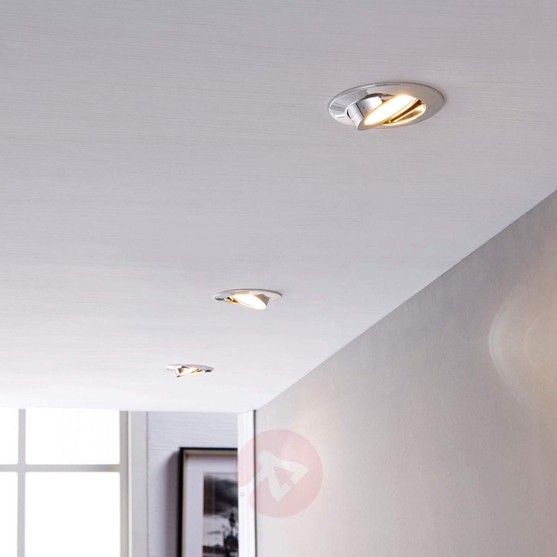 Ledeinbaustrahler Andrej Rund Chrom 3Erset Kaufen  Lampenwelt von Led Einbaustrahler Abstand Zueinander Photo
