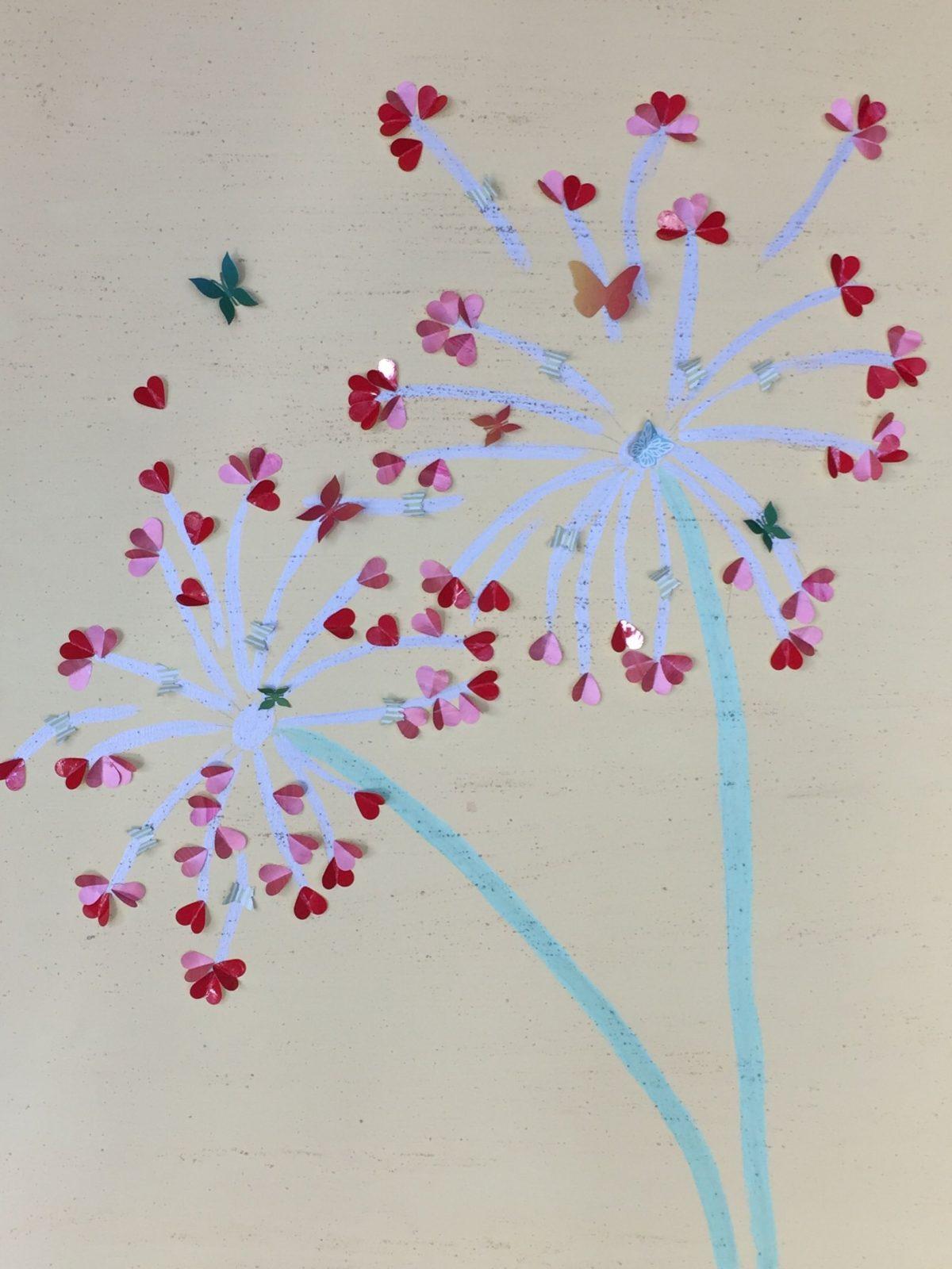 Leinwand Gestalten Mit Kindern Schmetterlinge Pusteblume  Selfmade von Leinwand Gestalten Mit Kindern Bild