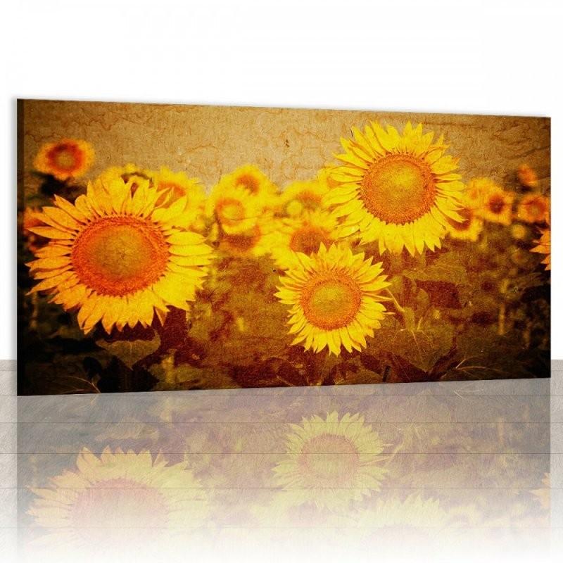 Leinwand Wandbilder Mehrteilig Dekoration Bild Schöne Sonnenblumen von Mehrteilige Bilder Auf Leinwand Photo