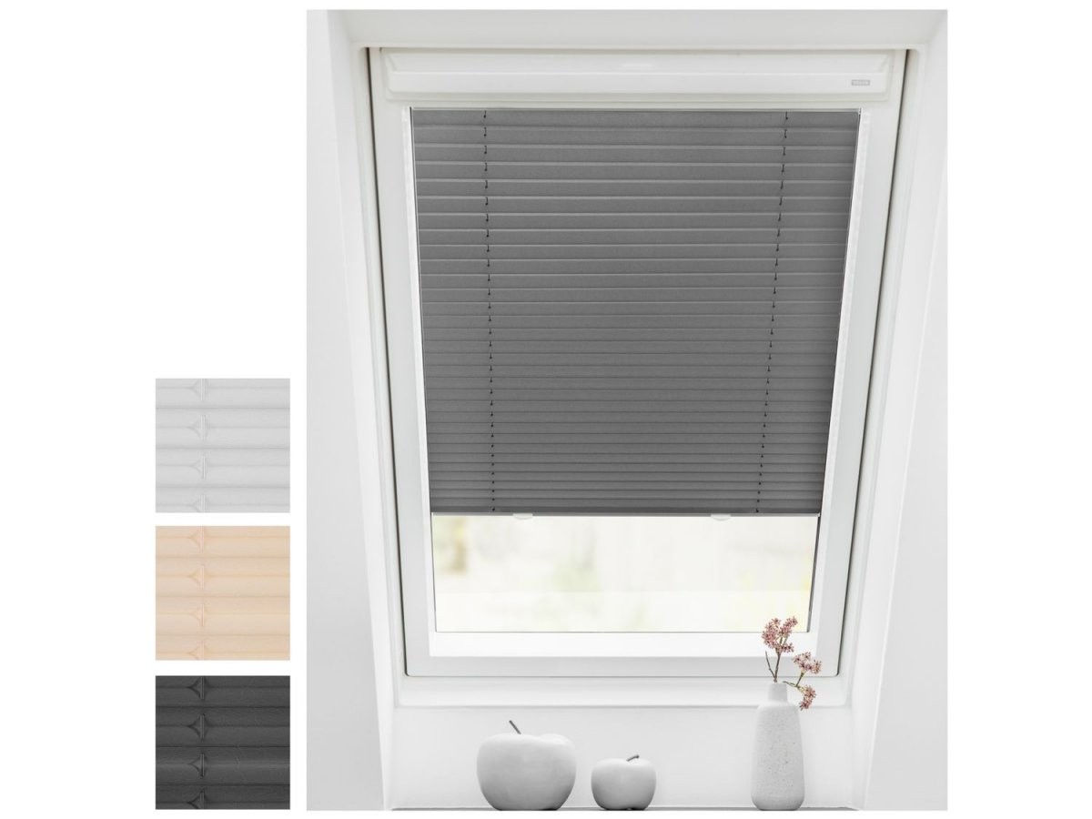 Lichtblick Dachfenster Plissee Haftfix Ohne Bohren  Lidl von Roto Dachfenster Plissee Ohne Bohren Bild