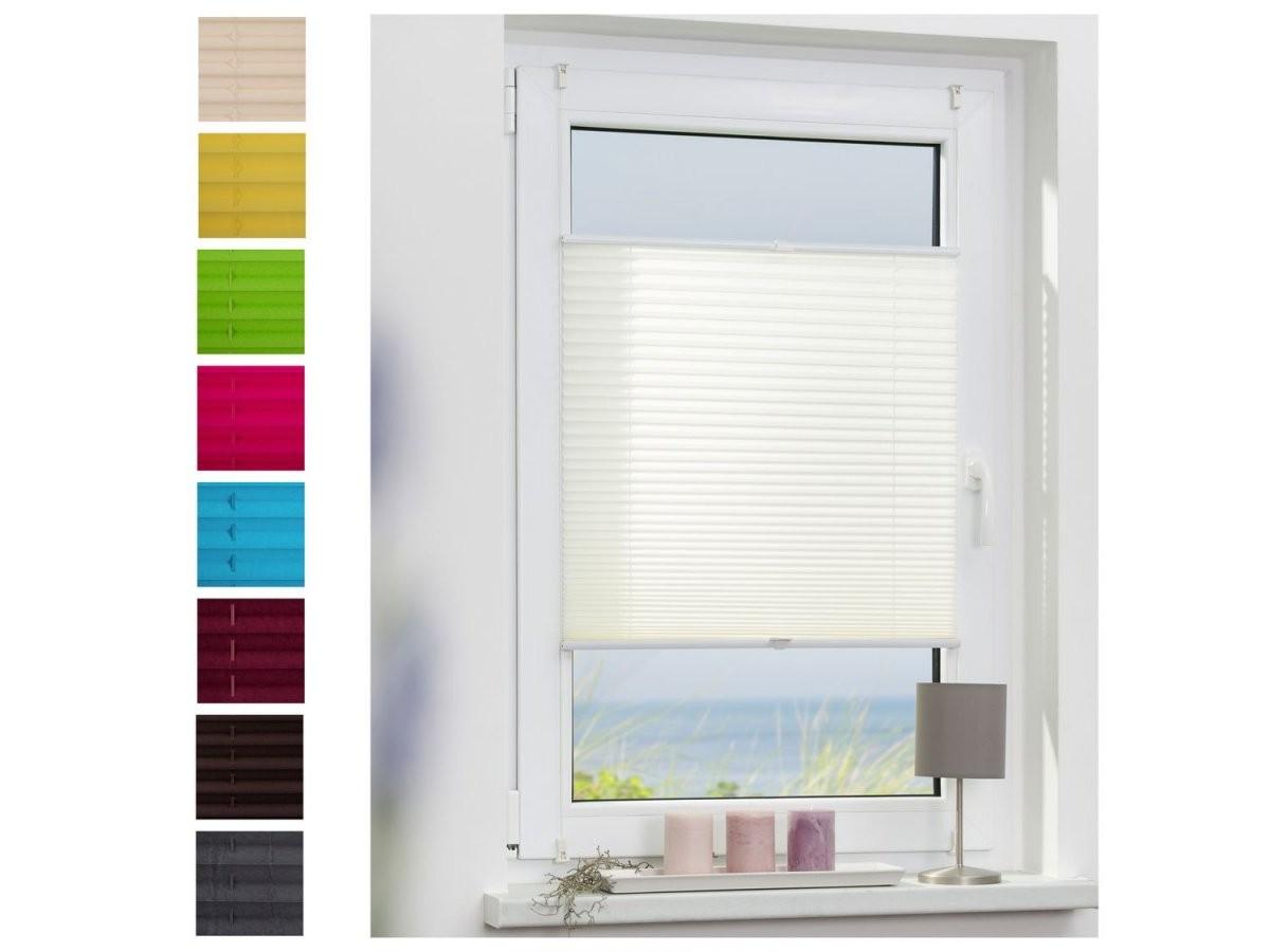 Lichtblick Plissee Klemmfix Ohne Bohren Verspannt  Lidl von Sonnenschutz Fenster Innen Ohne Bohren Bild