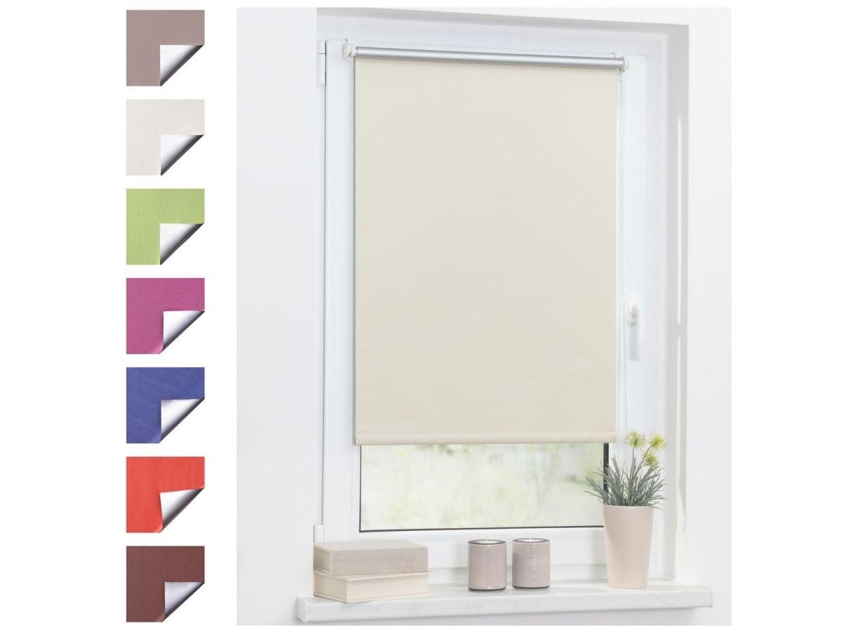 Lichtblick Thermorollo Klemmfix Ohne Bohren Verdunkelung  Lidl von Sonnenschutz Fenster Innen Ohne Bohren Bild