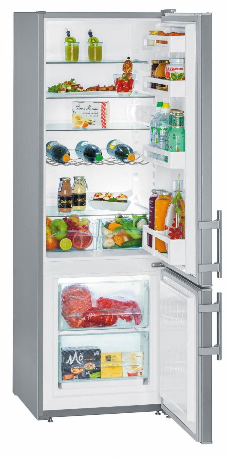 Liebherr Cuef 281120 A++ Kühlgefrierkombination Silber 55 Cm von Kühlschränke 55 Cm Breit Photo
