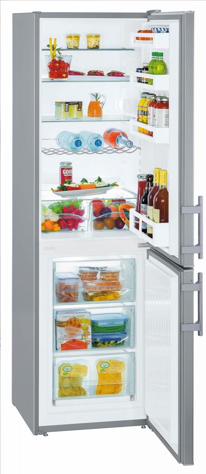 Liebherr Cuef 331120 A++ Kühlgefrierkombination Silber 55 Cm von Kühlschränke 55 Cm Breit Photo