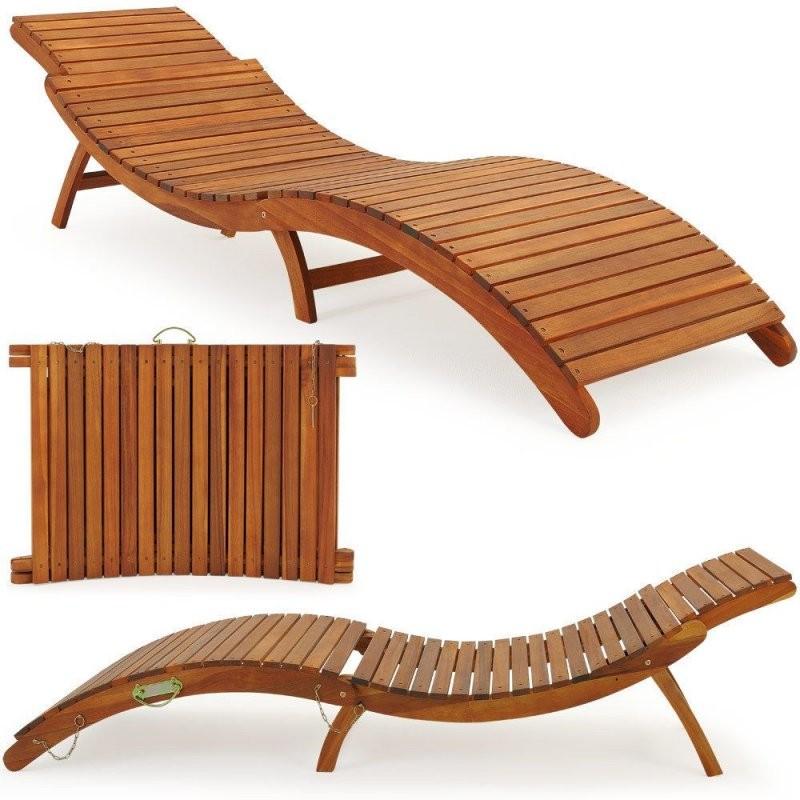 Liege Gartenliege Liegestuhl Sonnenliege Holz Gartenmöbel Holzliege von Holz Liegestuhl Selber Bauen Bild