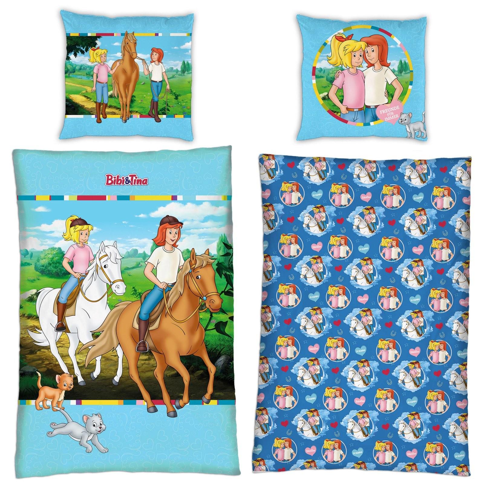 Linon Kinderbettwäsche Bibi Und Tina Minky 135X200 80X80 Cm von Bibi Und Tina Bettwäsche 135X200 Photo