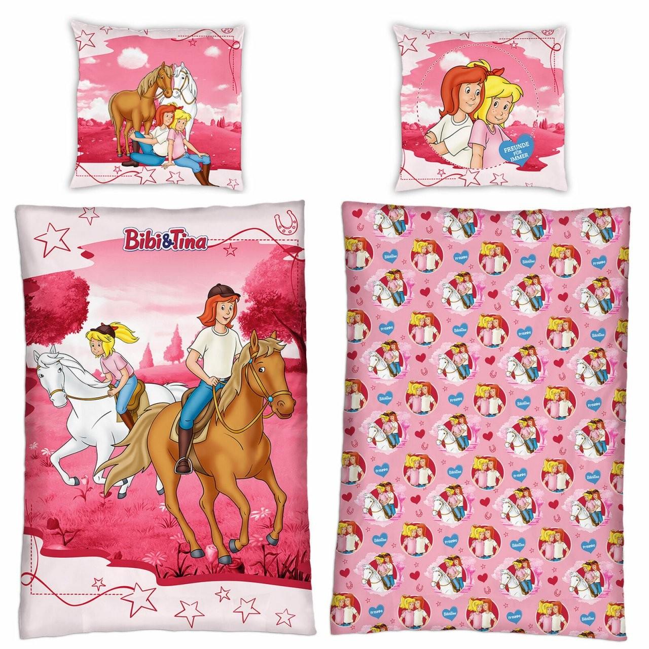 Linon Kinderbettwäsche Bibi Und Tina Reiter 135X200 80X80 Cm von Bettwäsche Bibi Und Tina Bild