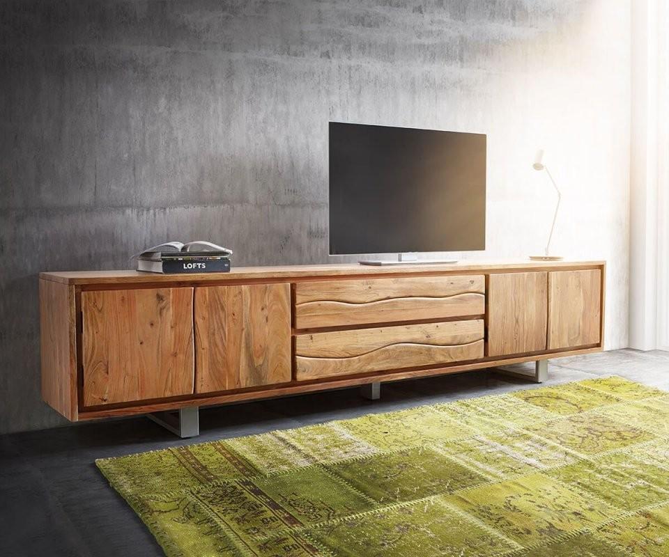Lowboard Liveedge 300 Cm Akazie Natur 4 Türen 2 Schübe  Akazie von Tv Lowboard 300 Cm Bild