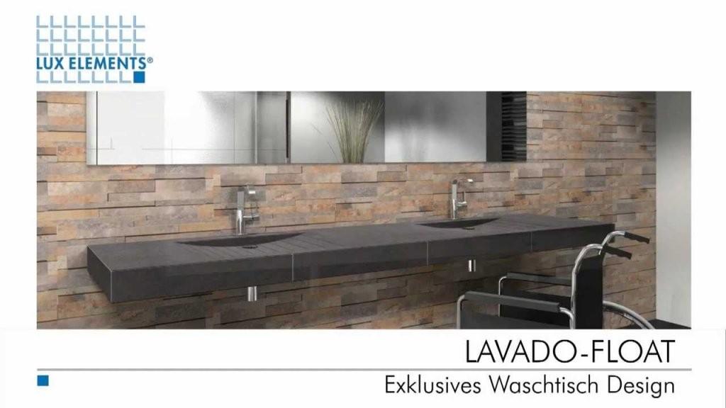 Lux Elements Exklusives Waschtisch Design  Youtube von Waschtisch Selber Bauen Bauplatten Bild