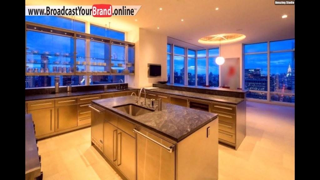 Luxus Küche Kochinsel Arbeitsplatte Granit Glanz  Youtube von Luxus Küche Mit Kochinsel Bild