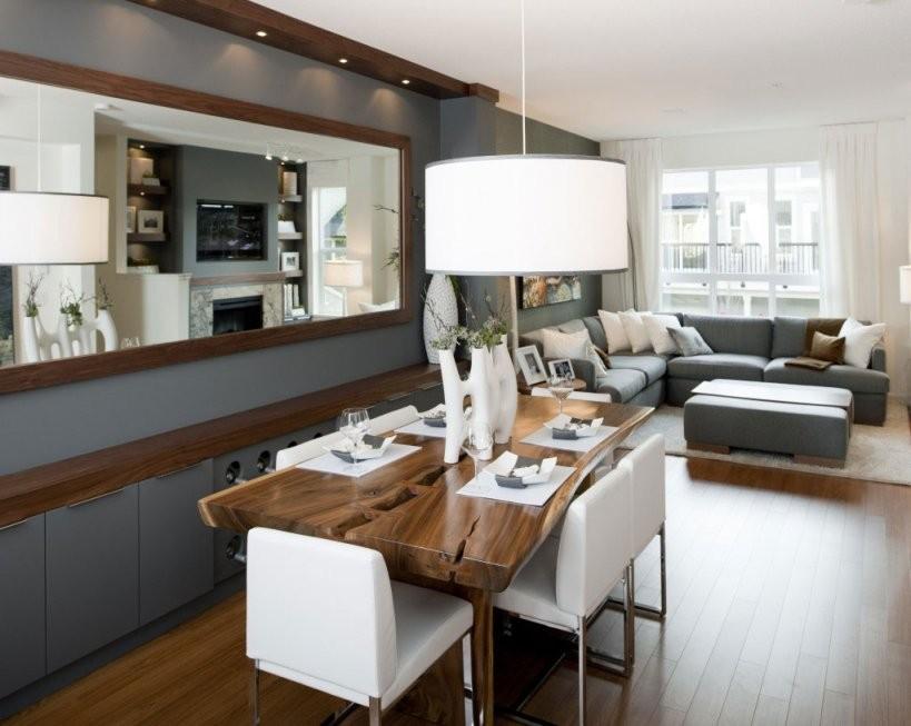 Luxus Wohnzimmer  33 Wohnesszimmer Ideen  Freshouse von Modernes Wohnzimmer Mit Essbereich Bild
