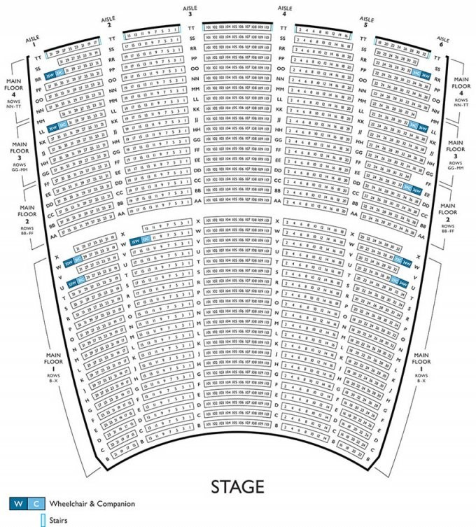 Lyric Opera Seating Chart  Lyric Opera Of Chicago von Lyric Opera Seating Chart Photo