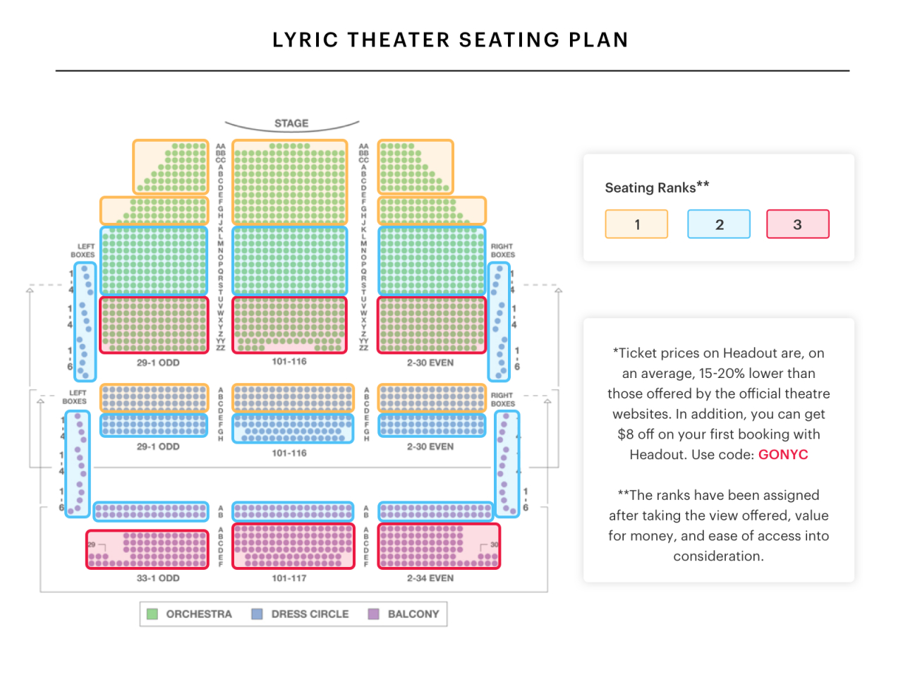Lyric Theatre Seating Chart  Watch Harry Potter And The Cursed von Lyric Opera Seating Chart Bild