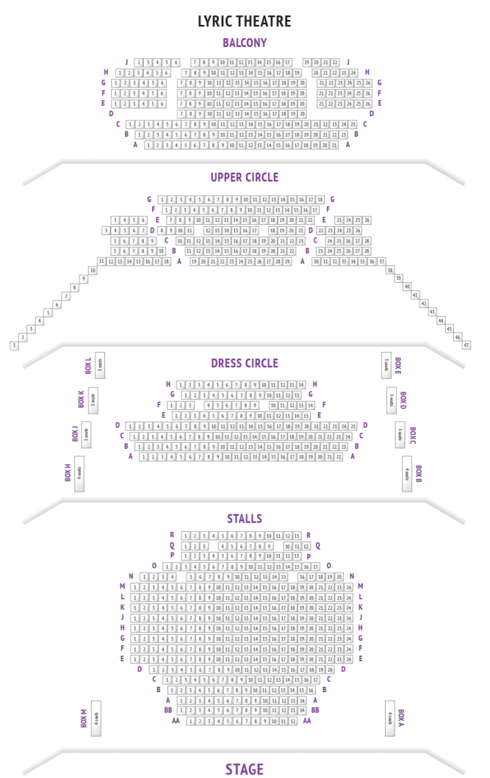 Lyric Theatre Seating Plan  Boxofficeuk von Lyric Opera Seating Chart Bild