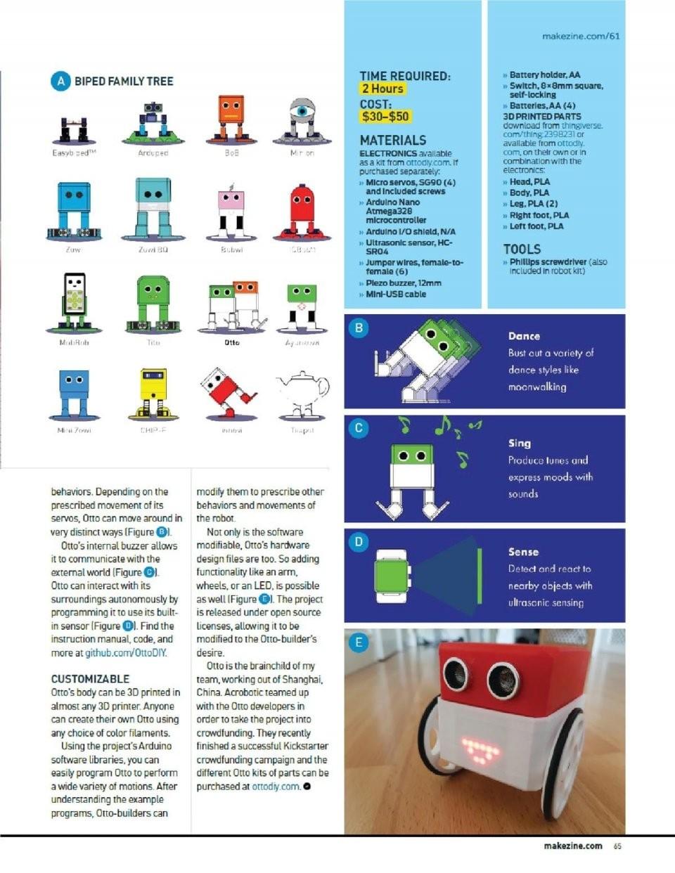 Make Magazine Article About Otto  Maker Faire Otto Builder Club von Otto Office Aktionscode 2016 Photo