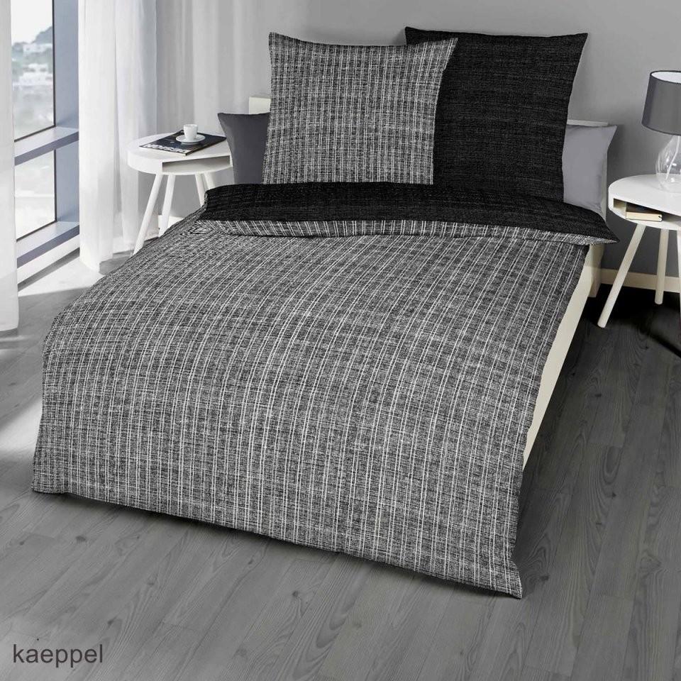 Mako Satin Bettwäsche Essential Schwarz Günstig Kaufen von Bettwäsche 200X200 Schwarz Weiß Bild