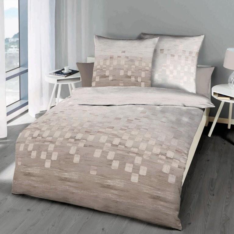 Makosatinbettwäsche Domino (155X220 Natur)  Dänisches Bettenlager von Mako Satin Bettwäsche 155X220 Photo