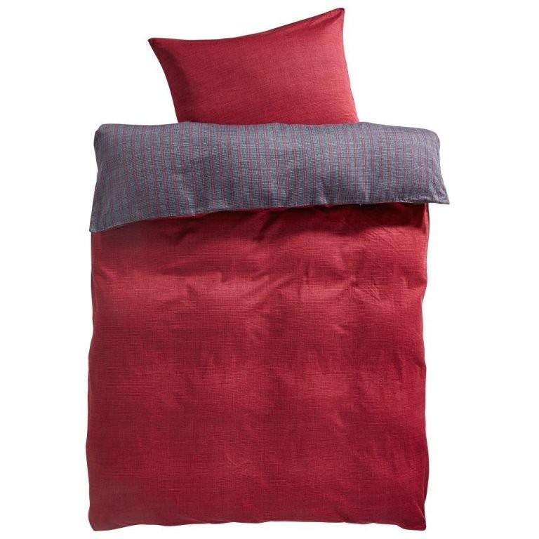 Makosatinbettwäsche Eternity (155X220 Rot)  Dänisches Bettenlager von Mako Satin Bettwäsche 155X220 Photo