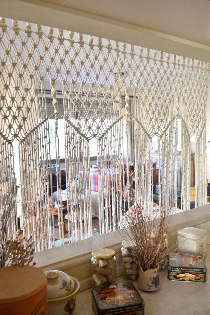 Makramee Raumteiler  Ideen Rund Ums Haus  Makramee Vorhang von Raumteiler Vorhang Selber Machen Photo