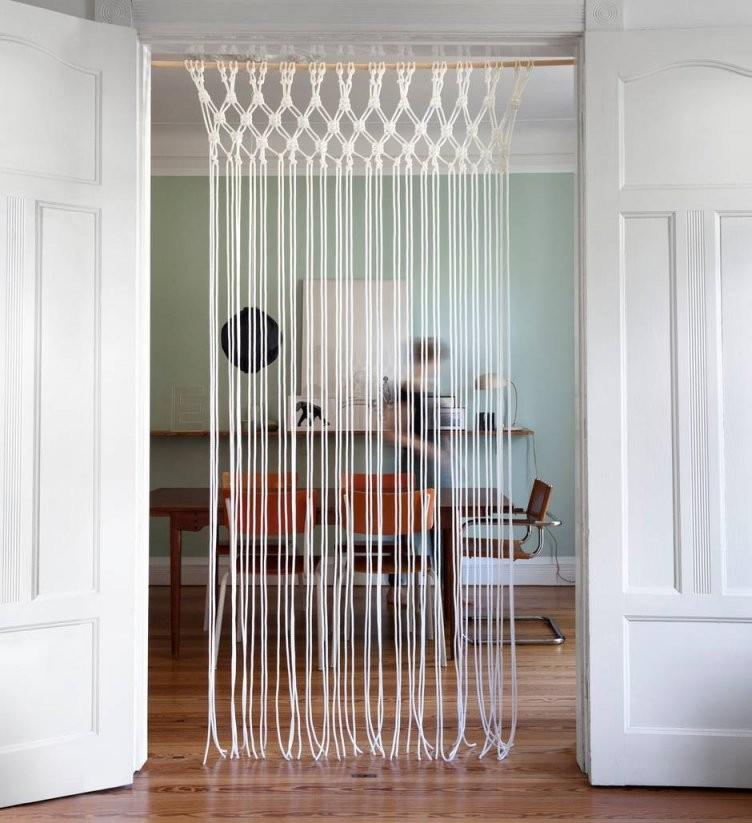 Makramee Vorhang Zum Selbermachen Die Besten Tipps  Stern von Raumteiler Vorhang Selber Machen Bild