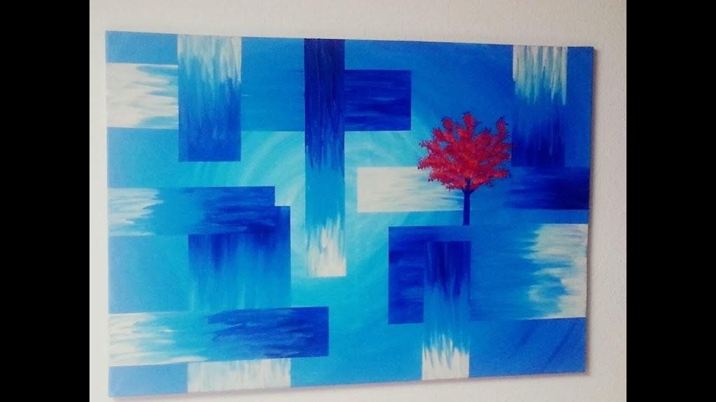 Malen  Acryl  Abstrakt  Baum  Acrylic Painting  Abstract  Für von Abstrakt Malen Für Anfänger Bild