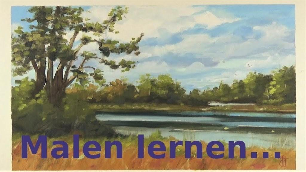 Malen Für Anfänger  See Landschaft Deutsch  Youtube von Acrylbilder Selber Malen Für Anfänger Bild