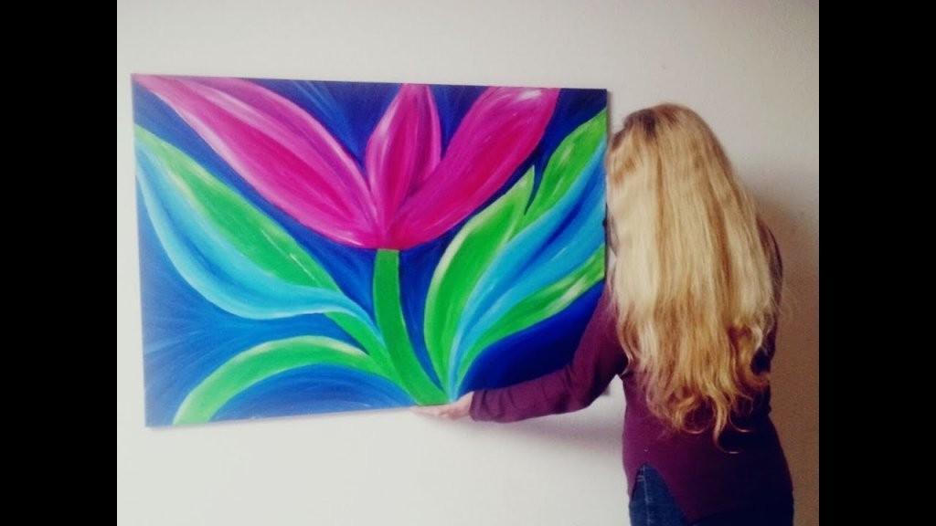 Malen Abstrakt Acryl Blumen Für Anfänger Abstrakte Von