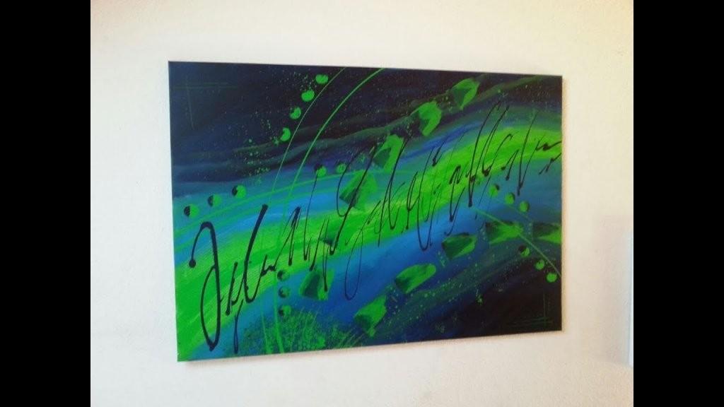 Malen Mit Acrylfarben  Für Anfänger  Abstrakt  Easy Painting von Acrylbilder Selber Malen Für Anfänger Bild