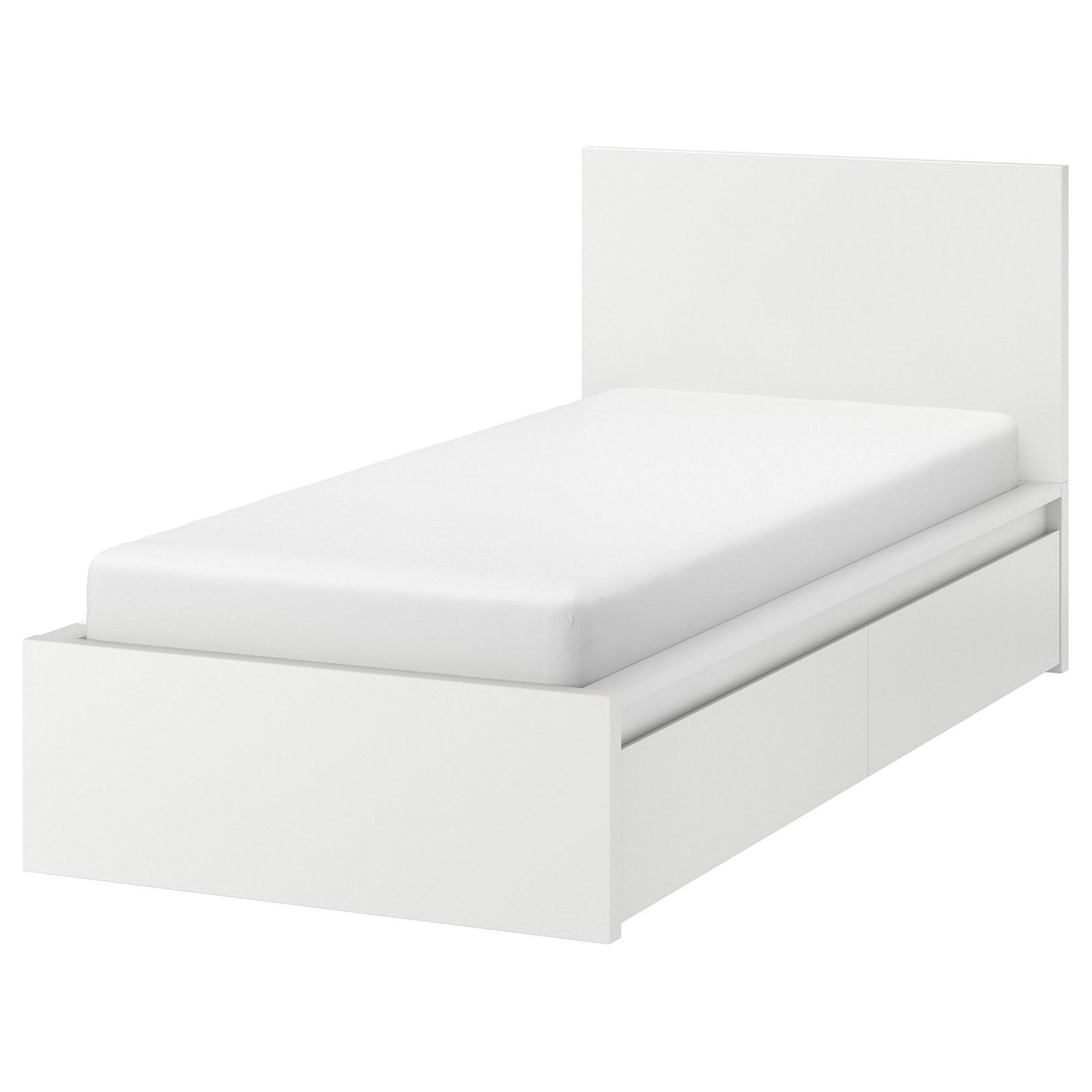 Malm Bedframe Hoog Met 2 Bedlades   Wit  Ikea von Ikea Malm Bett 90X200 Photo