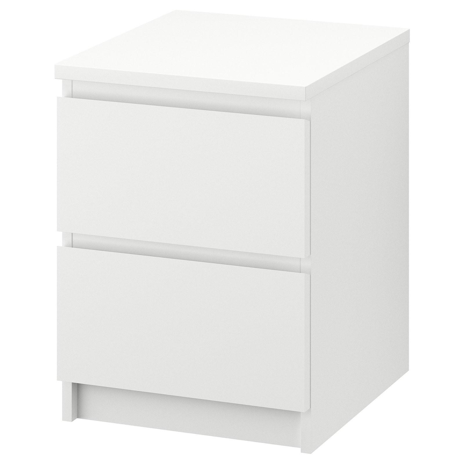 Malm Kommode Mit 2 Schubladen  Weiß  Ikea von Nachttisch Weiß Hochglanz Ikea Bild