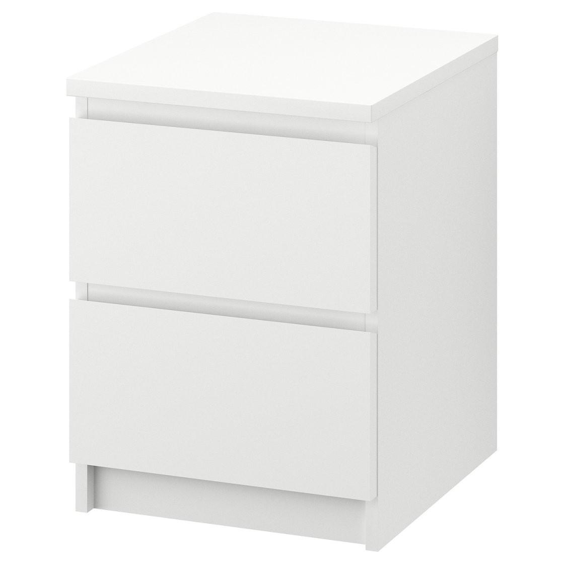 Malm Kommode Mit 2 Schubladen  Weiß  Ikea von Nachttisch Weiß Hochglanz Ikea Photo