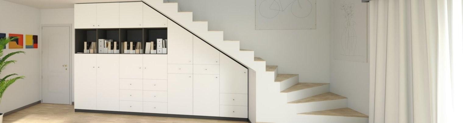 Maßgefertigte Möbel Für Unter Die Treppe Jetzt Online Konfigurieren von Regale Unter Der Treppe Bild
