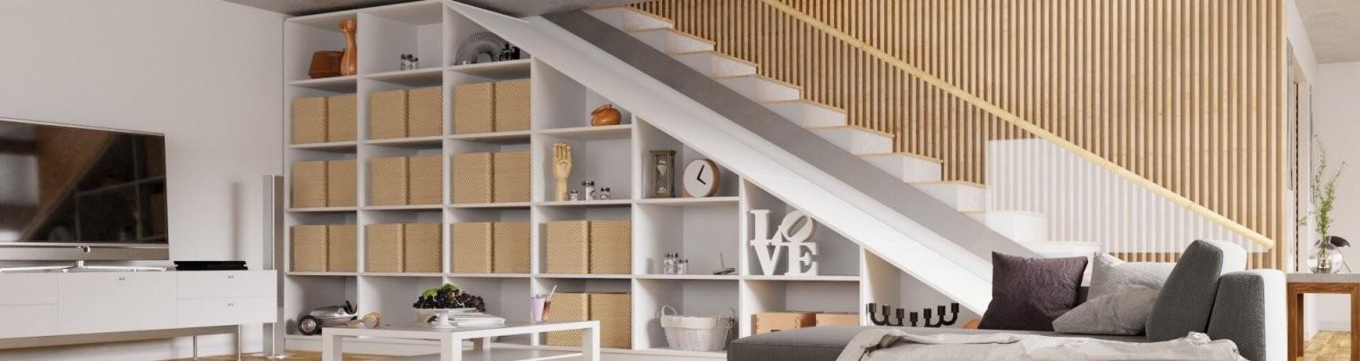 Maßgefertigte Möbel Für Unter Die Treppe Jetzt Online Konfigurieren von Regale Unter Der Treppe Photo