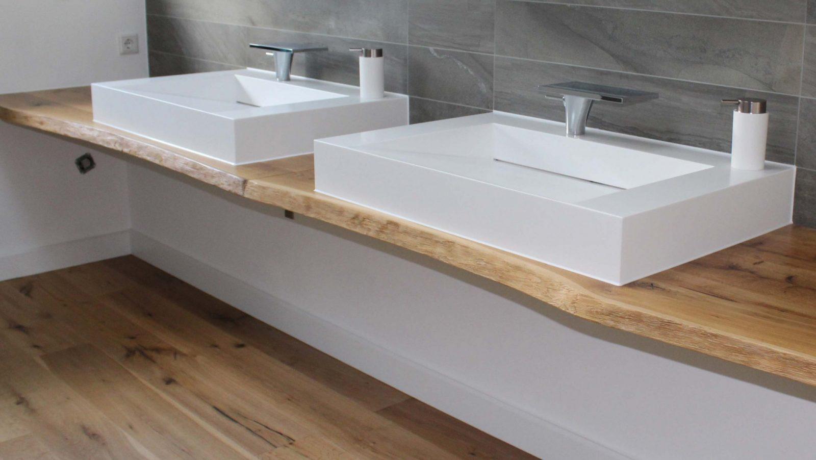 Maßgefertigte Waschtische Aus Holz  Holzland Beese  Unna von Waschtisch Holz Mit Aufsatzwaschbecken Photo