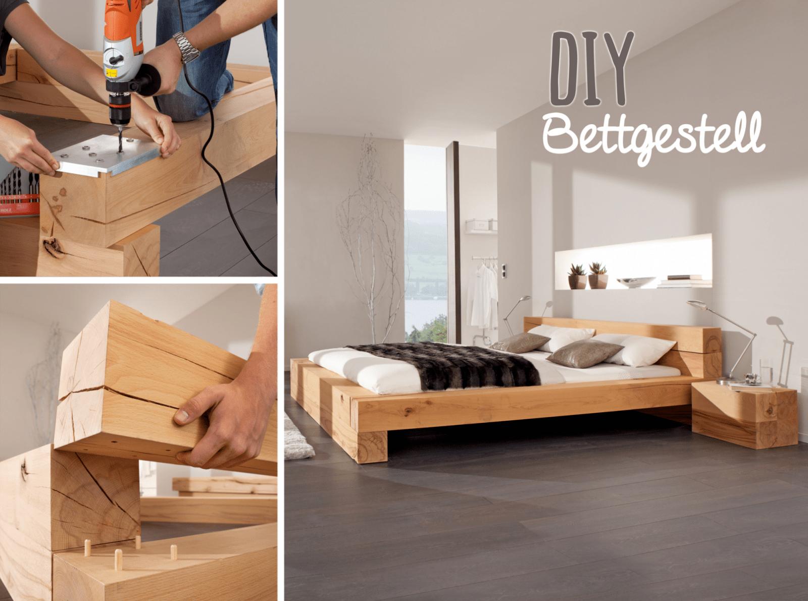 Massiv Blox Holzbalken  Do It Yourself  Bett Holzbalken Bett Und von Bett Aus Holz Selber Bauen Photo