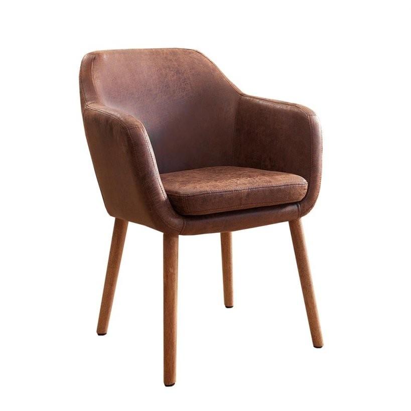 Massiver Design Stuhl Supreme Vintage Braun  Real von Wohnzimmer Sessel Mit Armlehne Photo