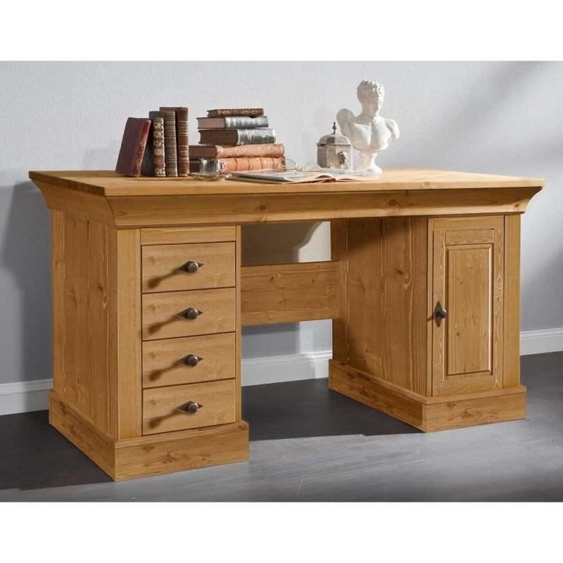Massivholz Schreibtisch Piatra Aus Kiefer Gelaugt Wohnen von Computertisch Kiefer Gelaugt Geölt Bild