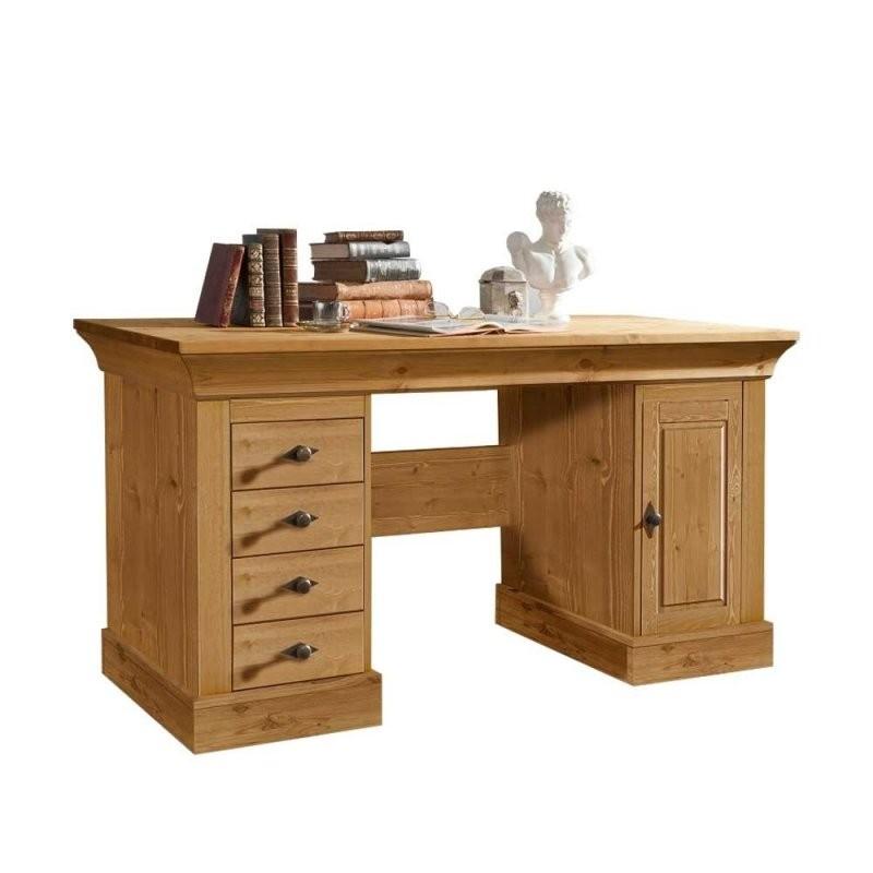 Massivholz Schreibtisch Piatra Aus Kiefer Gelaugt Wohnen von Schreibtisch Kiefer Gelaugt Geölt Bild
