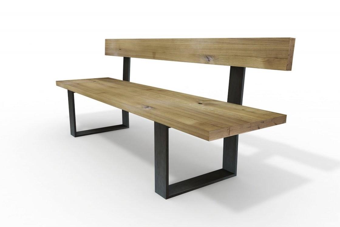 Massivholz Sitzbänke Und Lederbänke  Wohnsektion von Esszimmerbank Mit Lehne Holz Bild