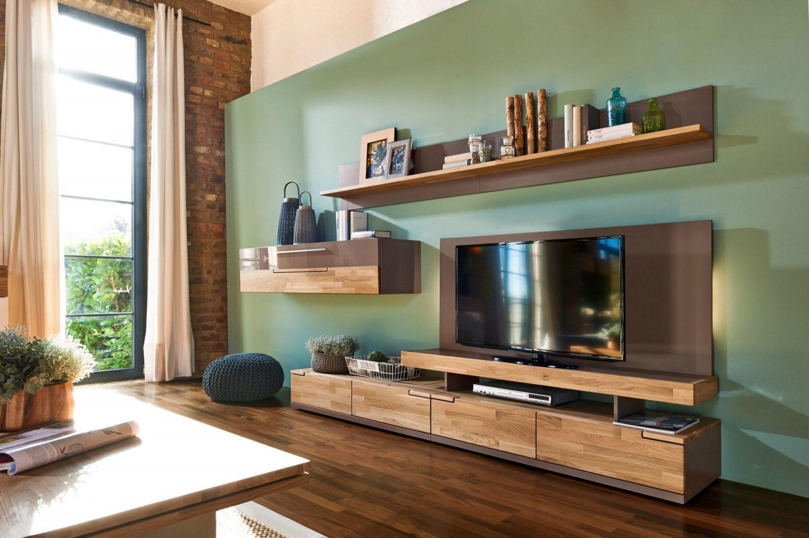 Massivholz Wohnwand  Einrichten Und Wohnen  Wohnwand Weiß Holz von Arte M Wohnwand Feel Bild