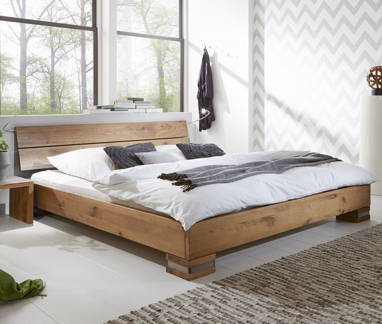 Massivholzbetten  Betten Aus Massivholz Günstig Kaufen von Bett Komplett Günstig Kaufen Bild