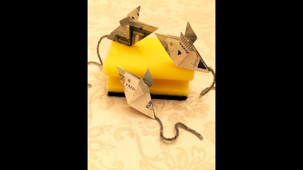 Maus Falten  Geld Falten  Geldgeschenk  Origami Geschenke  Youtube von Maus Aus Geldschein Falten Bild