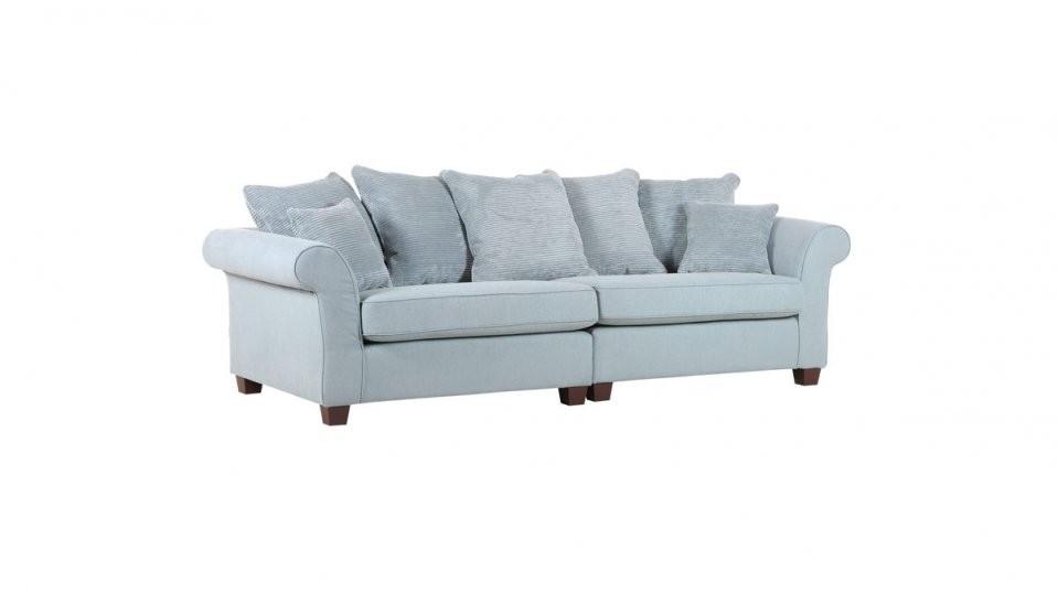 Megasofa Als Gemütliches Polstermöbel Eisblauer Stoffbezug 32713 von Gutmann Factory Big Sofa Photo