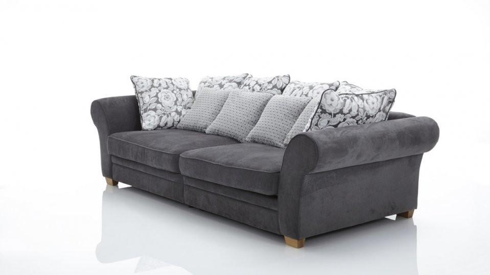Megasofa Im Landhausstil Ein Bigsofa Mit Federkern Dunkelgrauer von Gutmann Factory Big Sofa Photo