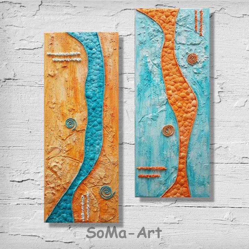 Mehrteilige Acrylbilder  **eierlauf ** 2 X 20Cm X 40Cm Auf von Mehrteilige Bilder Auf Leinwand Bild