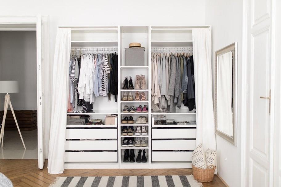 Mein Ikea Pax Kleiderschrank  Annalaura Kummer von Schrank Vorhang Statt Tür Photo