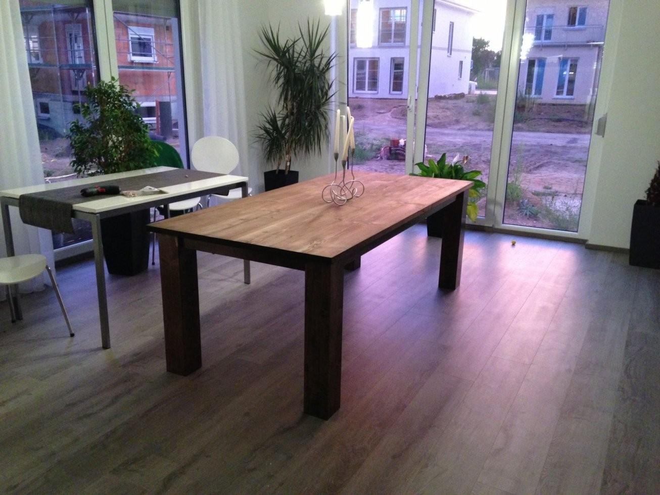 Mein Massiver Holztisch Bauanleitung Zum Selber Bauen  Carpentry In von Rustikaler Holztisch Selber Bauen Bild