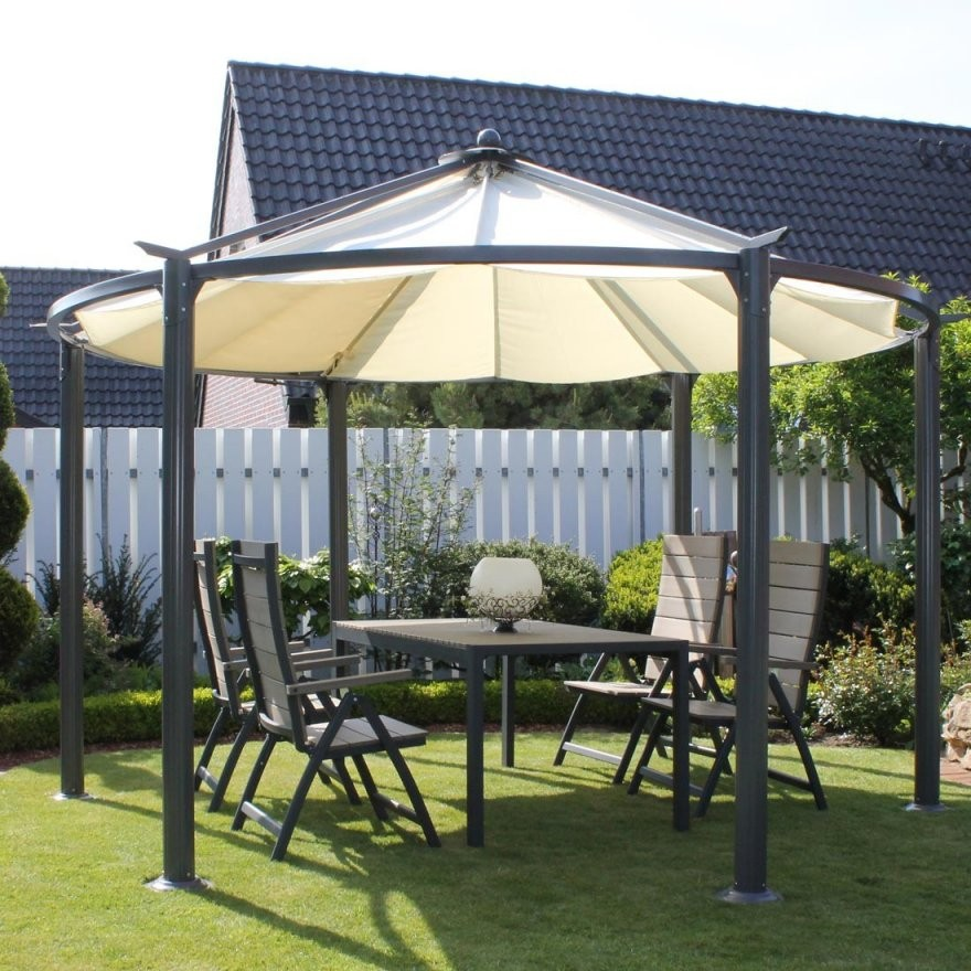 Metall Pavillon Mit Festem Dach Planen von Metall Pavillon Mit Festem Dach Bild