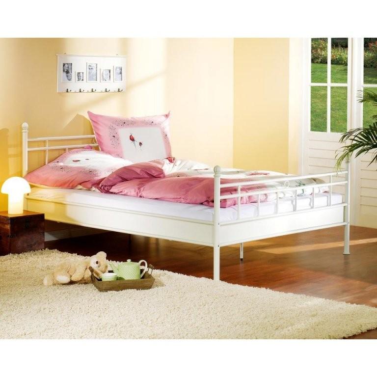 Metallbett Mathilda (90 X 200 Cm Cremeweiß)  Dänisches Bettenlager von Metallbett 90X200 Dänisches Bettenlager Bild