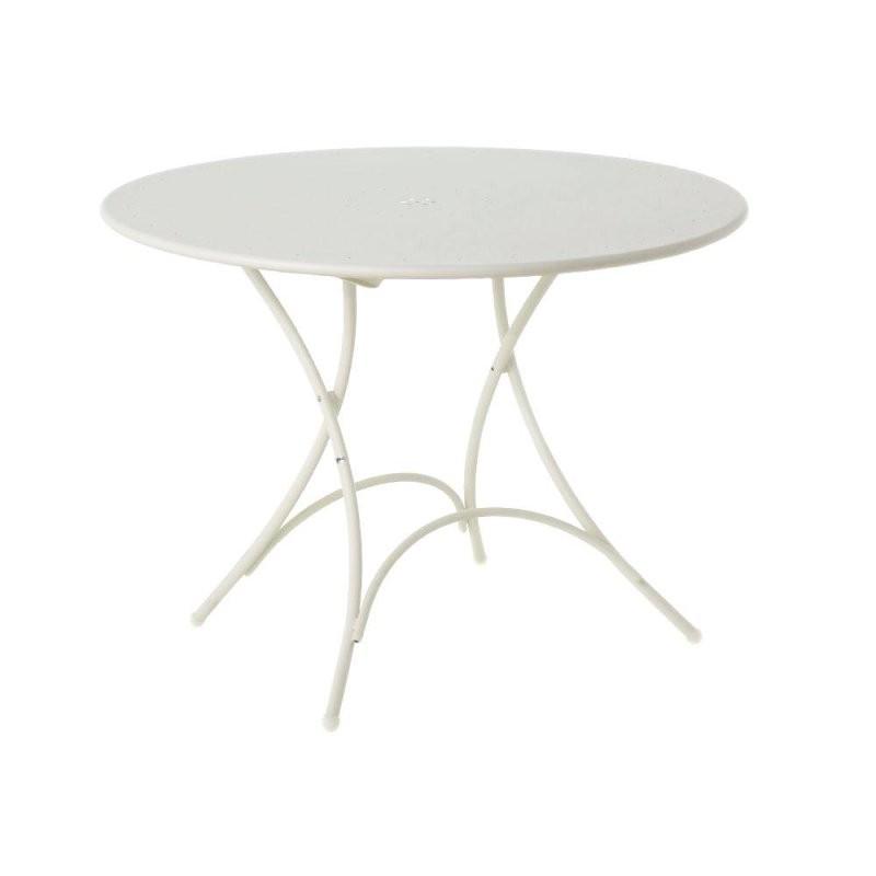 Metalltisch Rund Free Hay Loop Stand Tisch Rund With Metalltisch von Gartentisch Rund Kunststoff Weiß Bild